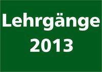 Lehrgänge 2013